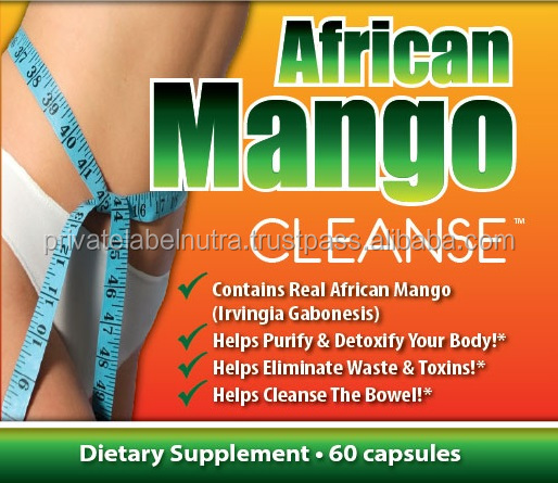 GMPc Nutritional Supplement COLON CLEANSE - Capsules - AFRICAN MANGO Private Label