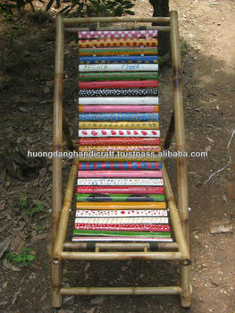 Painted Bamboo  Rattan Chair Made In Vietnam High Quality Traditional Craft