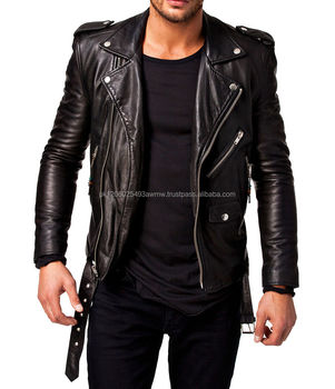 watch top-rated official nice shoes Leather Biker Jacket With Belt/biker Studded Leather Jackets For Men Best  Style - Buy Leather Jackets For Men,Biker Leather Jackets For Boys,Leather  ...