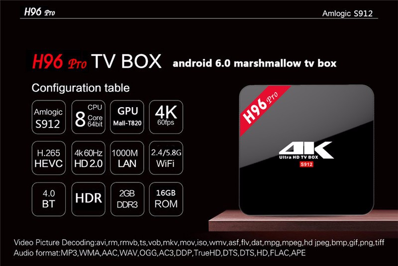 Youtube iptv android english keyboard layout Amlogic S912 H96 PRO 2GB RAM 16GB ROM android smart tv box