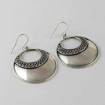Stylish Oxidized Jhumka 925 Sterling Silver Earring Jewellery Indian Fashion