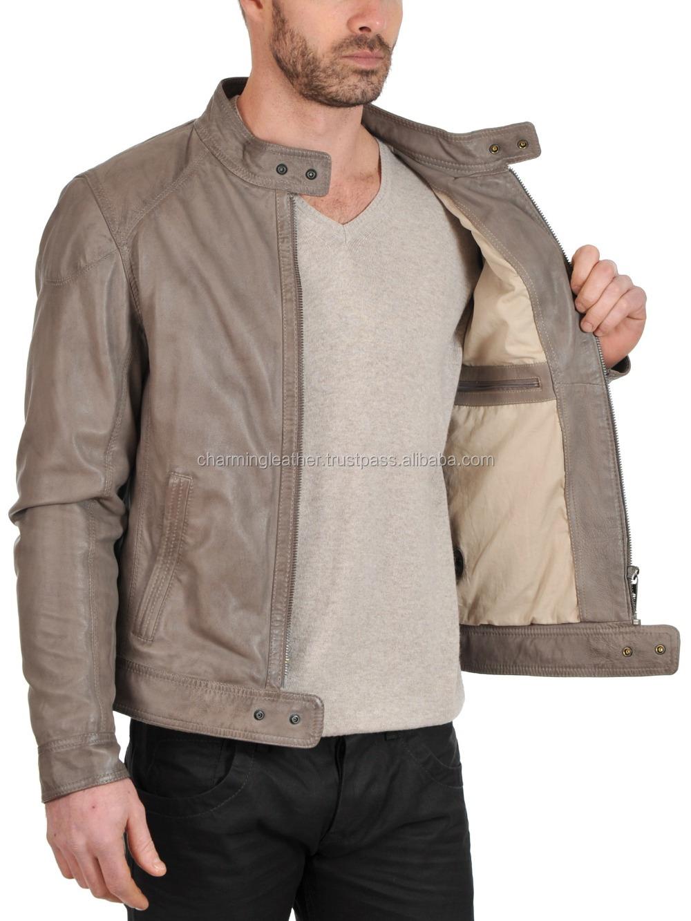 a44839f55f10c Elegante corta chaqueta de cuero para hombre 2015 nuevo estilo chaqueta de  cuero de