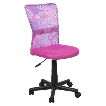 Office Armless Mesh Fabric Kid Swivel Chair With Polypropylene Base