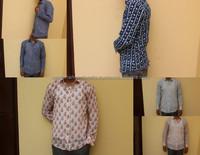 Hand block print Men Shirt. Soft Cotton Printed Casual Shirts