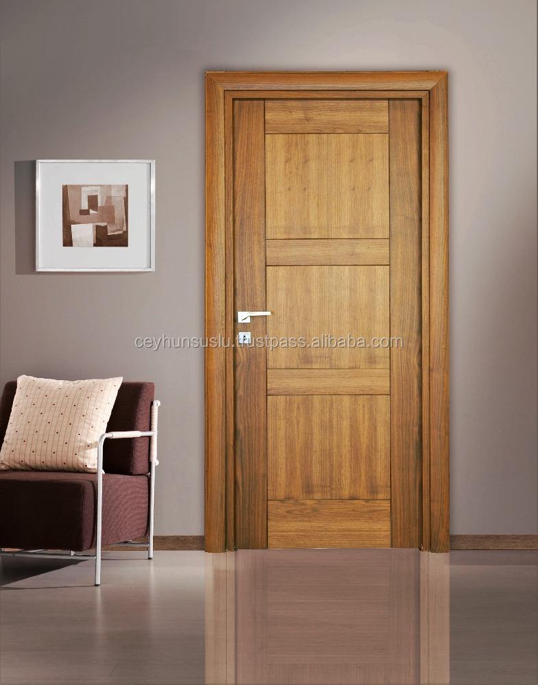 Natural American Walnut Veneer Interior Door With New Design Joint