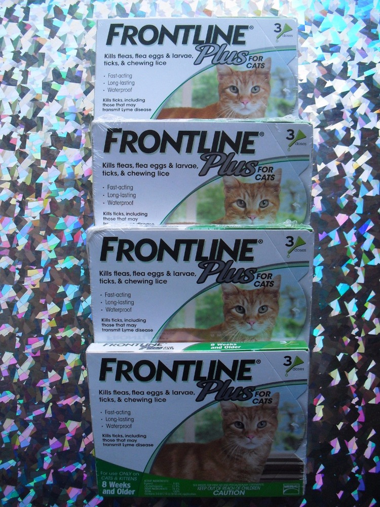 Frontline Plus For Ticks, fleas and Pest Control For Cats 8 Week and Above