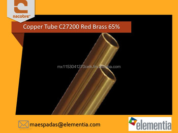High Quality Copper Red Brass Tube / Pipe C27200 65%