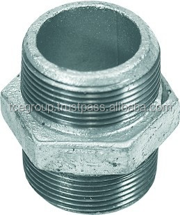 Equal Nipple Malleable Iron Pipe Fitting (Galvanized)