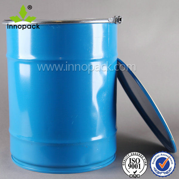20L Tinplate paint metal bucket with lock ring lid