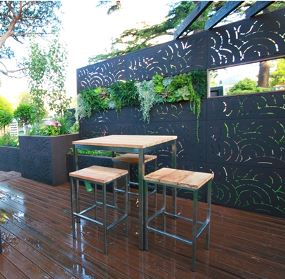 Aluminum Metal Stainless Steel Laser Cut Decorative Garden
