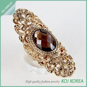 Kr-675 Long Antic Free Size Ring Accessories Hollywood Style