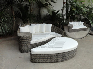 Popular Wicker Sofa Chair Set Rattan / Wicker Material and Outdoor Furniture General Use Wicker Furniture