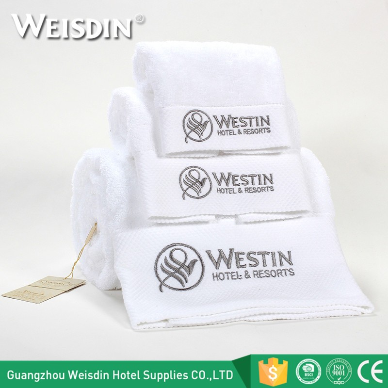 Wholesale Custom Embroidered Logo White Luxury Hotel ...