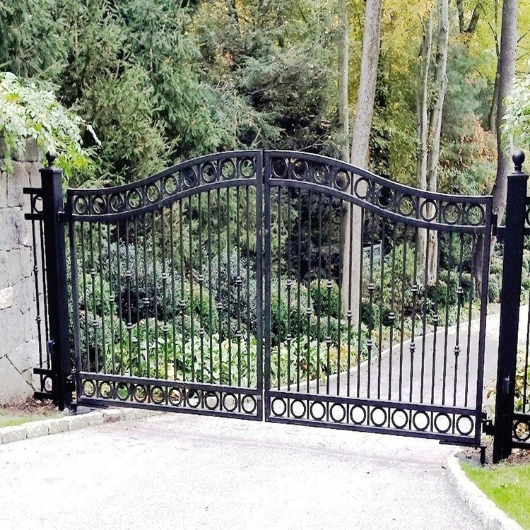 Custom Height And Colors Iron Pipe Gate Design Without Welding ...