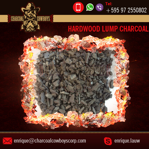 Long Flame with Less Ignition Temperature Hardwood XL Lump Charcoal for Barbecue