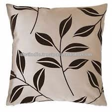 standard size white cushion pillow cover printed
