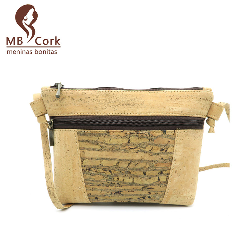 Natural cork handmade women Wood grain bodycross vegan cork bags Wooden vintage bag from Portugal Bag-89