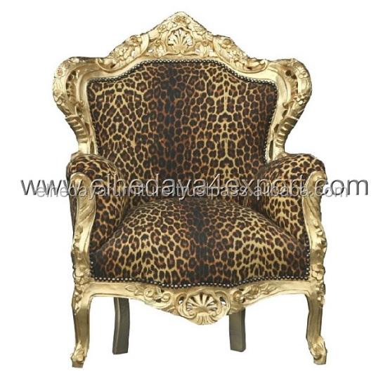 Baroque Animal Print Armchair