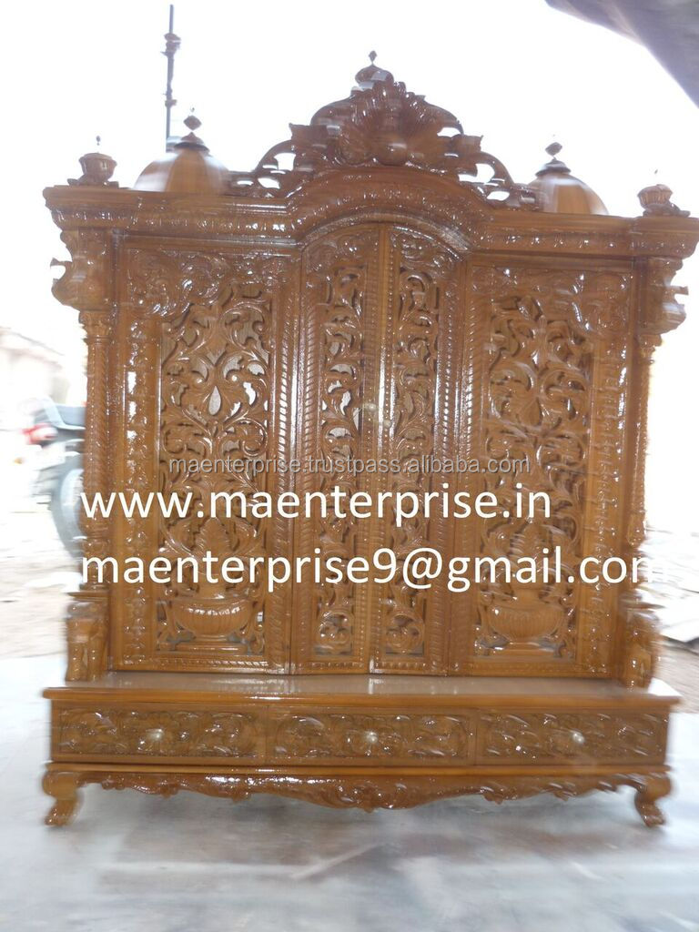 Wooden Temple With Door Design For Home   Buy Wooden Temple Design For Home,Door  Design For Temple,Wooden Temple For Home Product On Alibaba.com