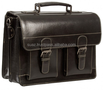 Vintage Black Leather Satchel bags  e81889a35