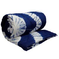 INDIGO SHIBORI 6846 indian wood block printing designs quilt queen size