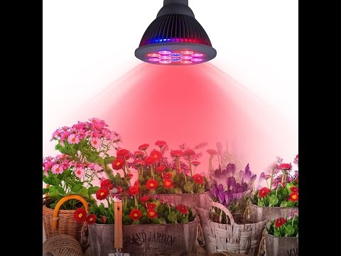 TaoTronics 24w Led Grow light Bulb , Miracle Grow Plant Light for Hydropoics Organic