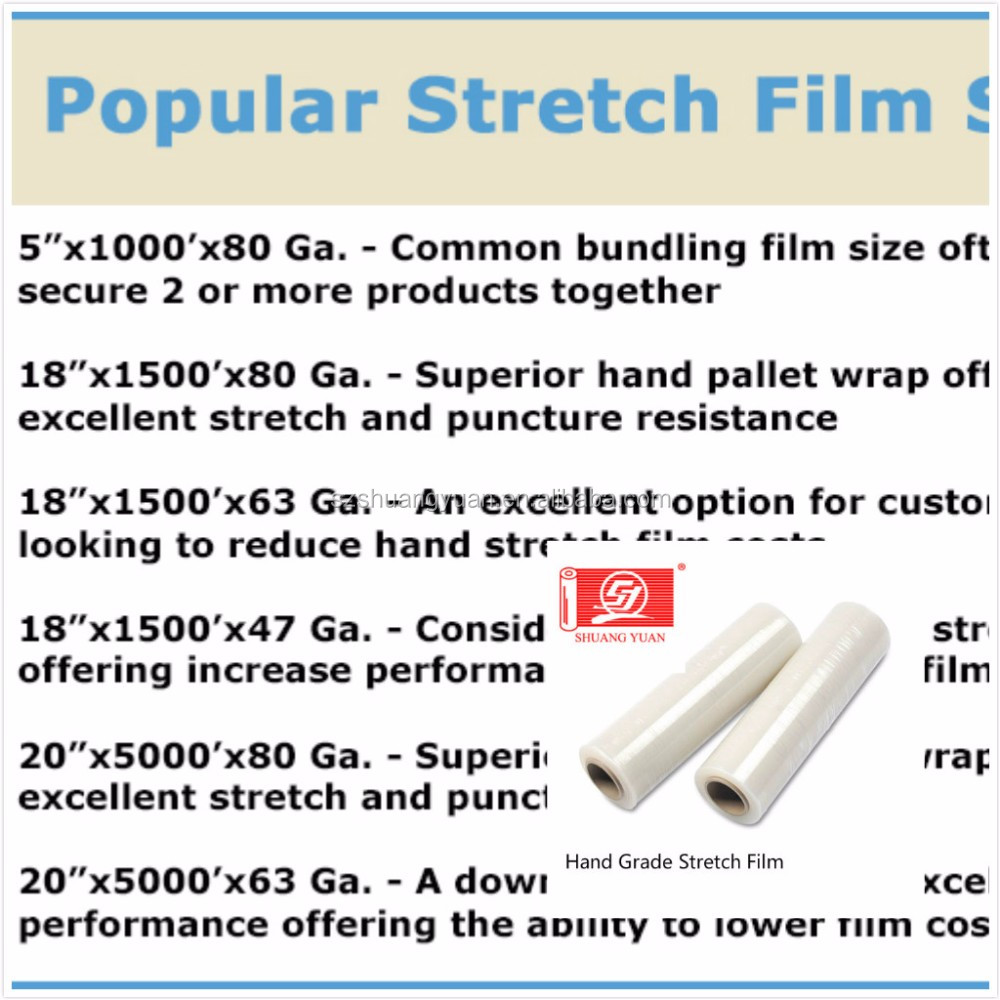 23mic clear cast pe stretch film, stretch Foil, pallet strech wrap film