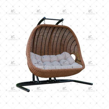 Classy Design Poly Synthetic Resin Rattan 2 Seater Swing Chair Or