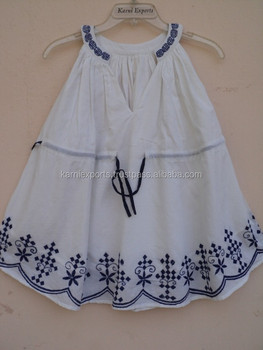 Summer Clearance 2016 Hot sale Children's Dress print embroidery girls dress for 2-6 Y Kids wear