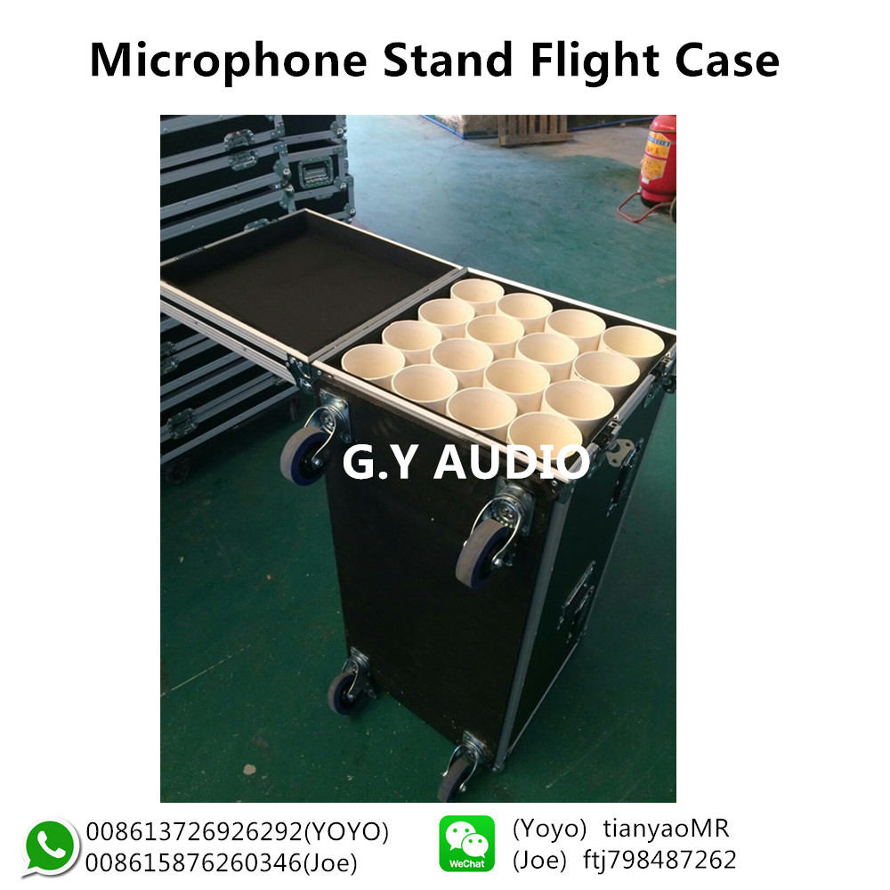 Equipment Cases for Microphone,Mic Flight Cases with Egg Foam and wheels
