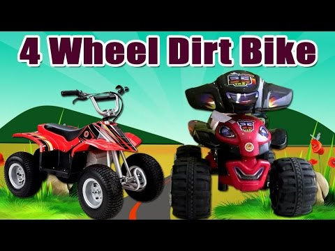 Surprise 4 wheel Dirt Bike Toy Video Review For Kids | Awesome Wheel Dirt Bike Kids Playing Toy