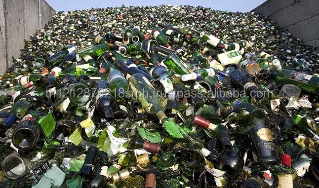 Used Glass bottles for recycling