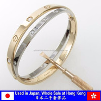 Brightly luxurious used Cartier bracelet brand jewelry at Hong Kong