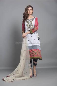 ccd7c63826 Pakistani Designer Lawn Suit - Buy Lawn Suit With Net Dupatta ...