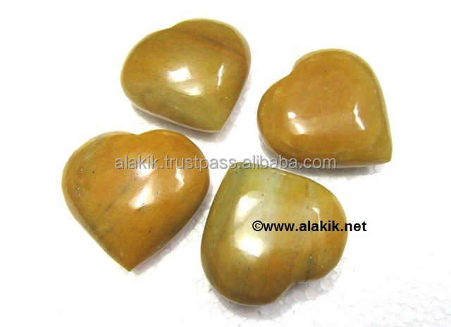 Yellow Aventurine pub Hearts : Gemstone Pub Hearts