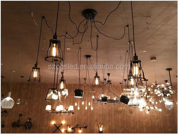 Moderne houten statief staande lamp stof lampenkap vloerlamp voor