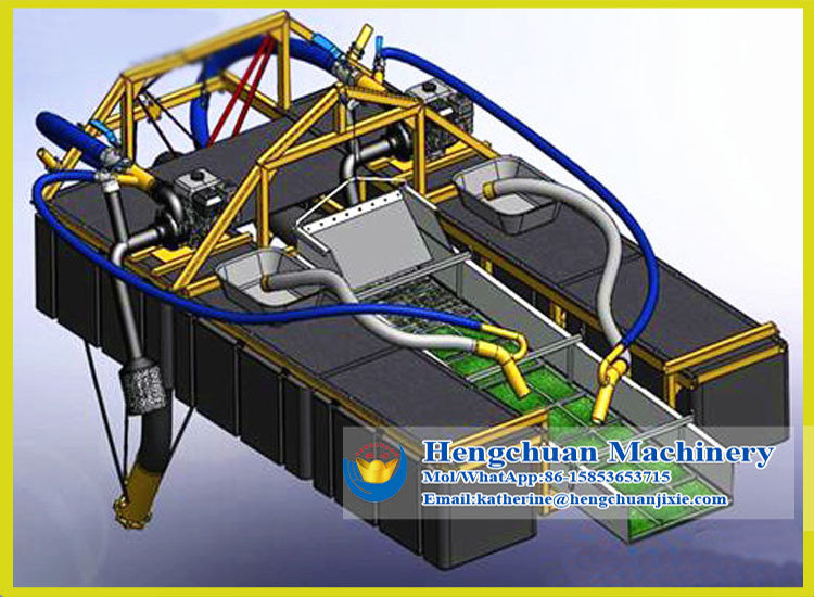how to build a floating gold dredge