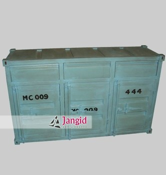 Metal Industrial Container Dining Room Sideboard Import Furniture