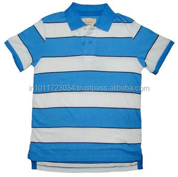 Stripe men's polo t shirt for promotion clothing factories in india