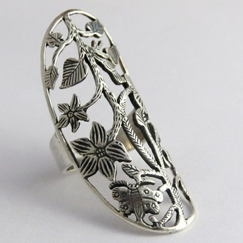Antique filigree design 925 sterling silver ring online for Silver jewelry repair indianapolis