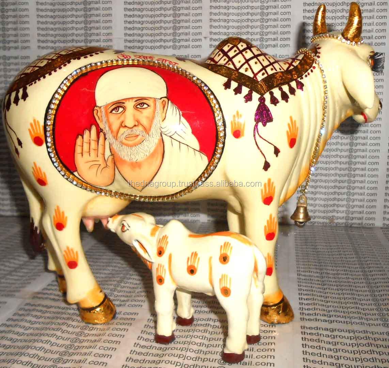The Wish-fulfilling Kamdhenu Cow Of Ancient Hindu Legend - Buy Resin  Painting Hindu Deities On Kamdhenu Cow,Resin Painting Hindu Deities On  Kamdhenu