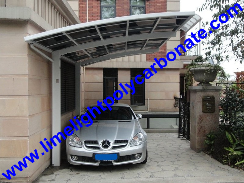 Garaje cobertizo marco de aluminio cochera policarbonato for Garaje de coches