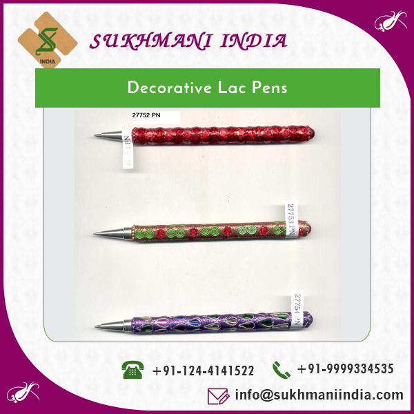 Trustworthy Manufacturer Selling Decorative Pen in Lac for Bulk Sale