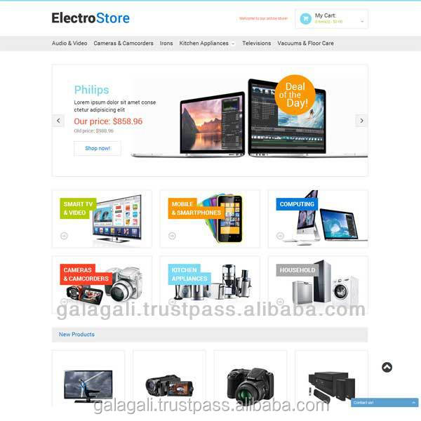 Best Online Shopping eCommerce Website Design and Website Development for Apparel and Accessories with SEO