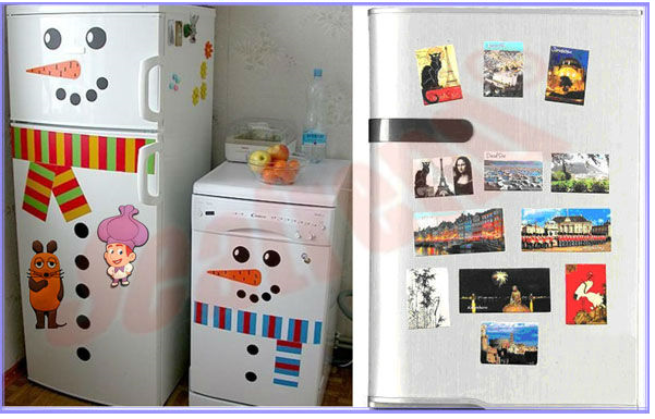 Absorbent high quality flexible flat fridge magnet