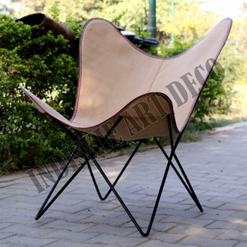 Etonnant Canvas Leather Butterfly Outdoor Garden Chair Classic Butterfly Chairs
