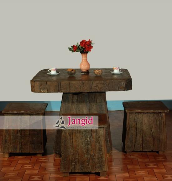 Ferrocarril sleeper reciclado de madera del hotel muebles juego de ...