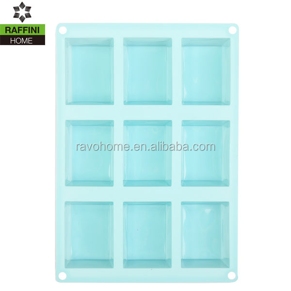 Square Silicone (9 Cavities) Soap Mold