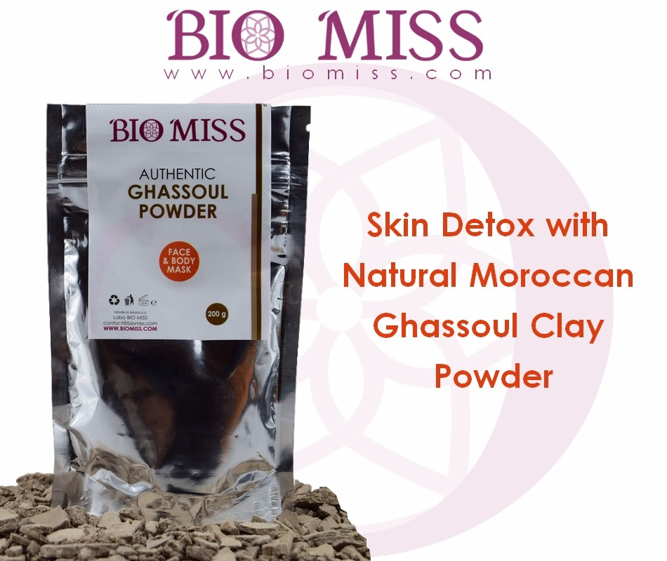 Mais novo Skin Care Autêntico e Natural Ghassoul Clay Finest Powder - Limpa e Purifica - Face & Body Detox Mask