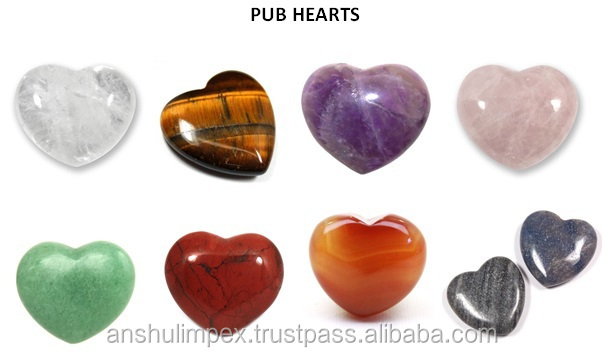 Tiger Eye Carved Puffy Hearts shaped Crystal for Pendents, Collectible